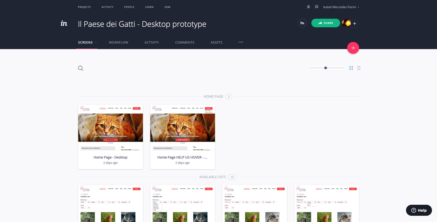 Il-Paese-dei-Gatti-Desktop-prototype-Screens-InVision